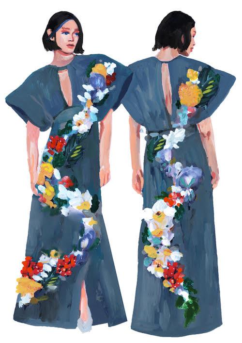 青山明生によるドレスのイメージ画