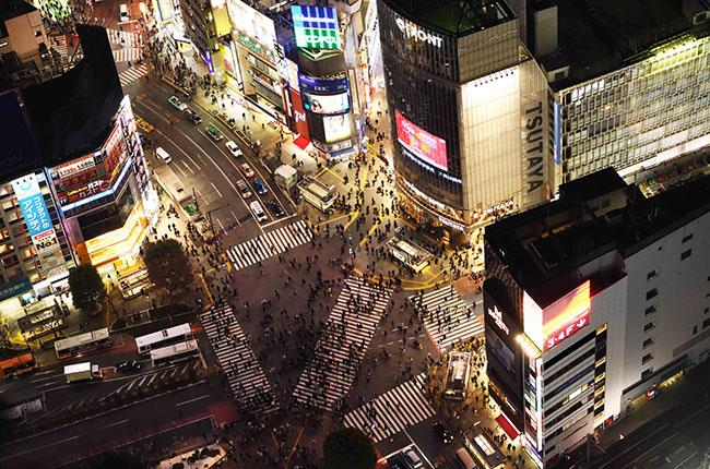 SHIBUYA SKYからの眺望。提供元:渋谷スクランブルスクエア