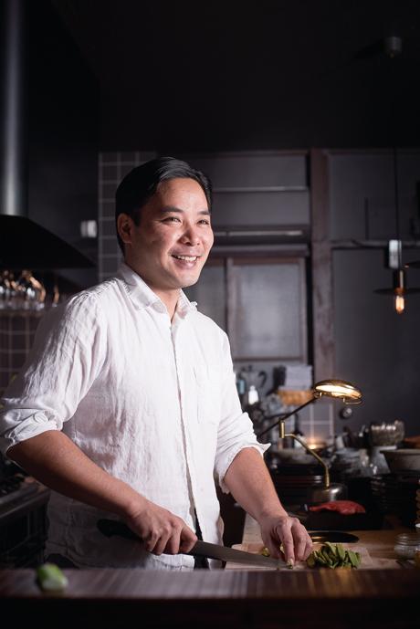 オーナーシェフの福田祐三さん。「お客さんや生産者、ご近所の人。周りの方々に誠実でありたいです」。