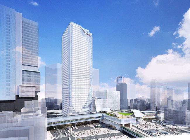 宮益坂交差点方面より望む、渋谷スクランブルスクエア。提供元:渋谷駅街区共同ビル事業者