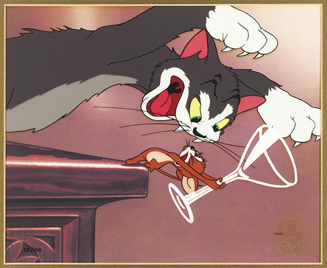 『トムとジェリー』「上には上がある」セル・セットアップ