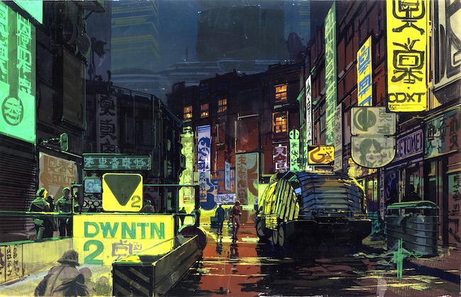 Downtown City Scape _ブレードランナー (C) 1982 The Blade Runner Partnership. All Rights Reserved.