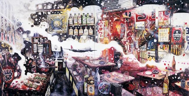 『北千住』2010 油彩/キャンバス 227 × 444 cm 金沢21世紀美術館蔵