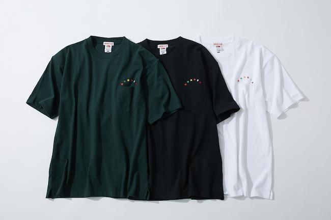 Tシャツ(グリーン/ブラック/ホワイト、サイズM/L)各¥5,800