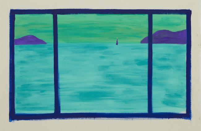 瀬戸内の海、朝5時43分 sea of setouchi, am5:43 2019 acrylic on canvas 57.5 x 93.5 cm ©Ellie Omiya