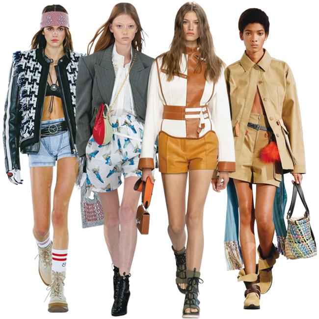 (左から)Alexanderwang、Louis Vuitton、Hermès、Loewe