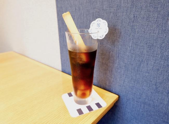 「シガール・ストロー」付きアイスコーヒー ¥864(税込)