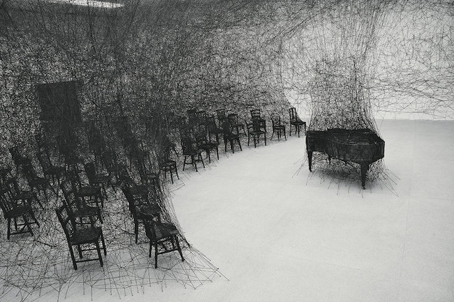 『静けさの中で』2008年(展示風景:「存在様態」パスクアートセンター(ビール/ビエンヌ、スイス)2008年) 撮影:Sunhi Mang