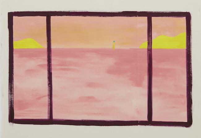 瀬戸内の海 夕方5時32分  sea of setouchi, pm5;32 2019 acrylic on canvas 59.0 x 94.5 cm ©Ellie Omiya