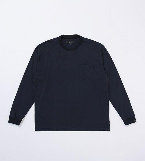 クルーネック Tシャツ(ブラック、ネイビー、ホワイト3色展開) ¥12,000
