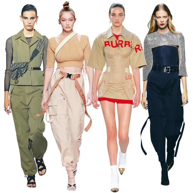 (左から)Dior、Fendi、Burberry、Givenchy