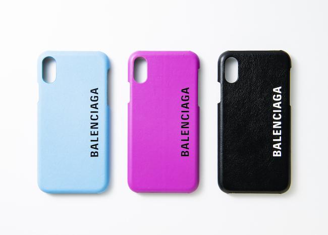 iPhoneケース(ベイビーブルー、フューシャピンク、ブラック)各¥27,000