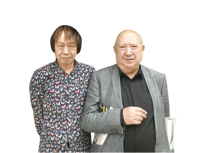 祖父江(左)とボルタンスキー。