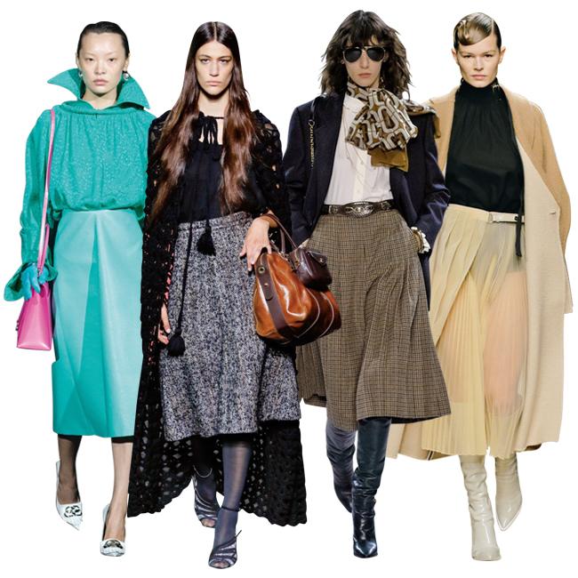 (左から)Balenciaga、Miu Miu、Celine、Fendi