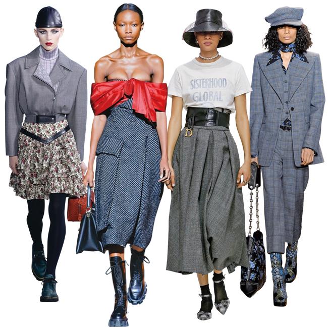 (左から)Louis Vuitton、Prada、Dior、Michael Kors Collection