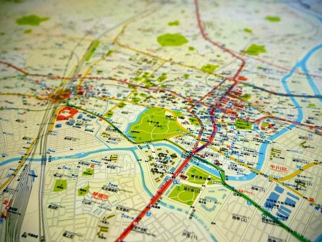 今和泉隆行『空想地図 中村市』(2018年)(部分)