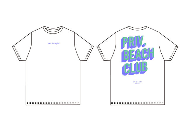 Priv. Beach Club Tシャツ ¥5,800
