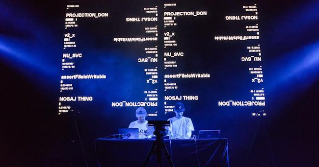 参考写真: Live at Sónar Barcelona Nosaj Thing×Daito Manabe (2017)