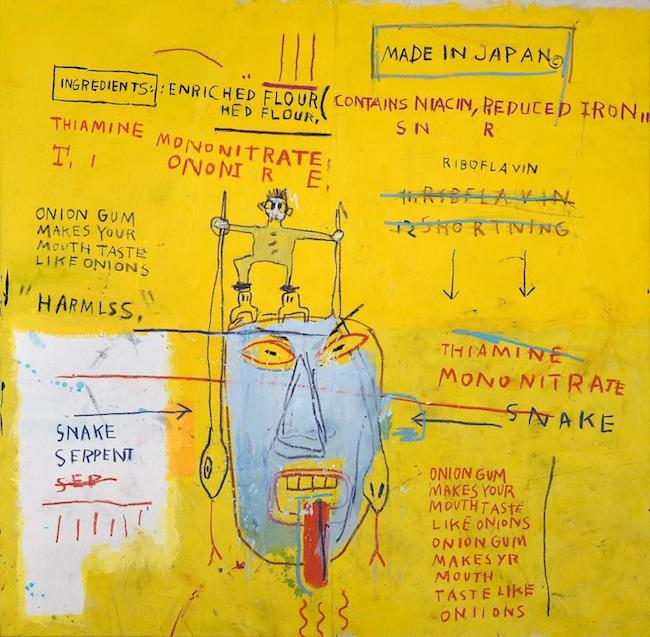 ジャン=ミシェル・バスキア<br /> Onion Gum, 1983<br /> Courtesy Van de Weghe Fine Art, New York<br /> Photo: Camerarts, New York<br /> Artwork © Estate of Jean-Michel Basquiat.<br /> Licensed by Artestar, New York