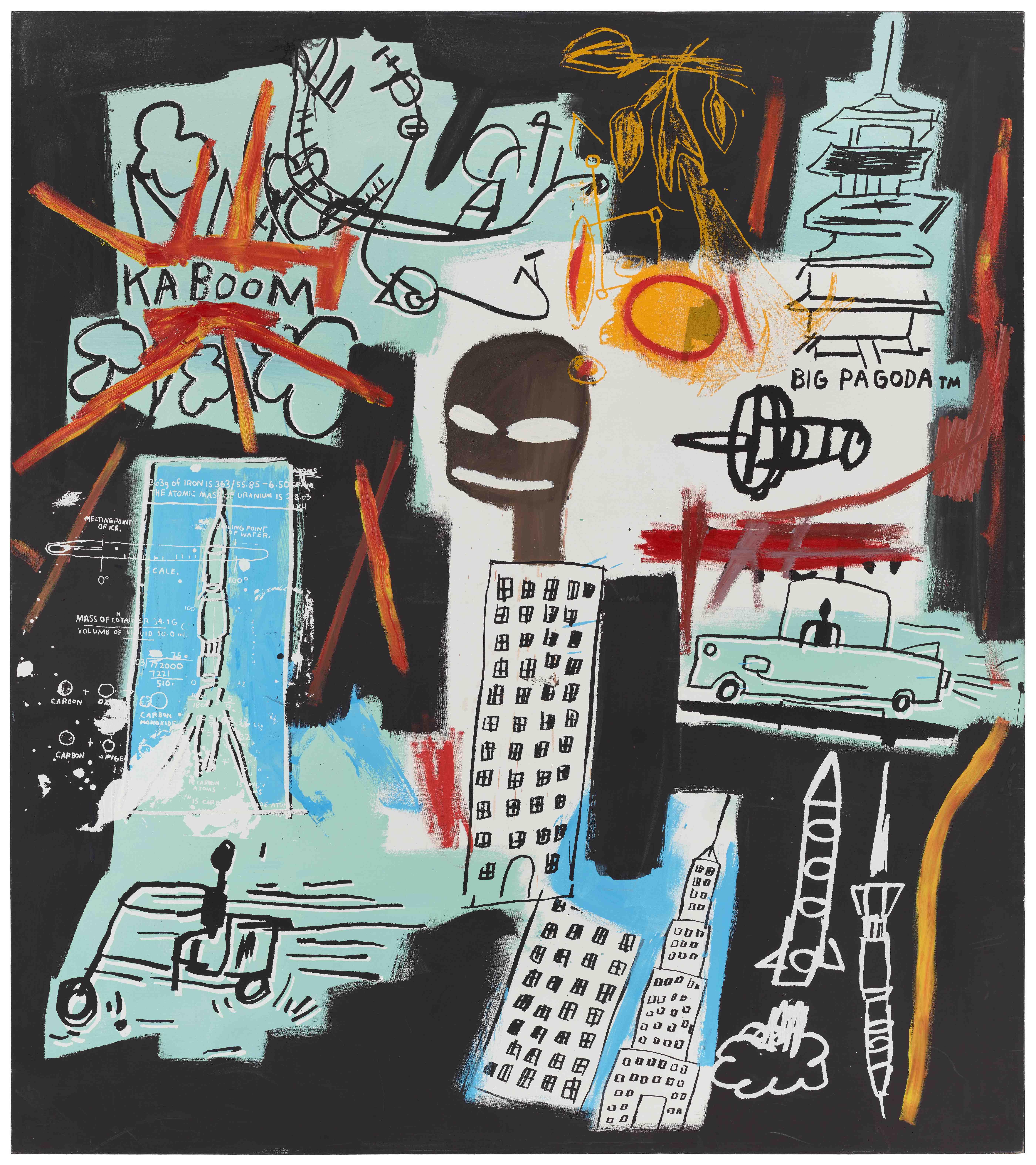 ジャン=ミシェル・バスキア<br /> Carbon/Oxygen, 1984<br /> Hall Collection<br /> Artwork © Estate of Jean-Michel Basquiat.