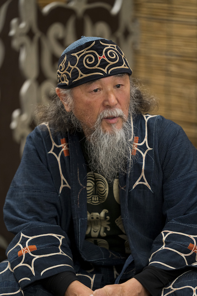 阿寒アイヌ工芸協同組合長の西田正男氏。 Photo: Tomoaki Okuyama