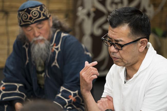 床州生氏(右)と西田正男氏(左)。 Photo: Tomoaki Okuyama