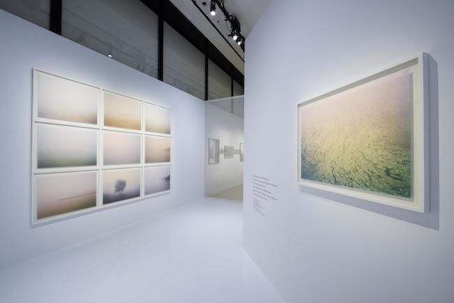 和紙にプリントを施した第3章の展示風景より。 ©CHANEL NEXUS HALL
