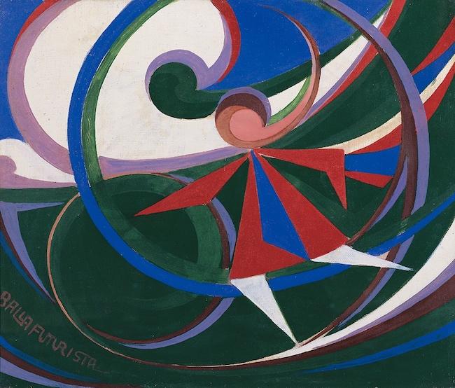 ジャコモ・バッラ『輪を持つ女の子』(1915年)ふくやま美術館蔵