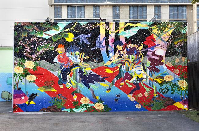 マイアミの「Wynwood Wall」に描かれた壁画作品 © Tomokazu Matsuyama