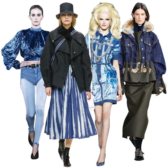 (左から)Y/project、Dior、Moschino、Sacai