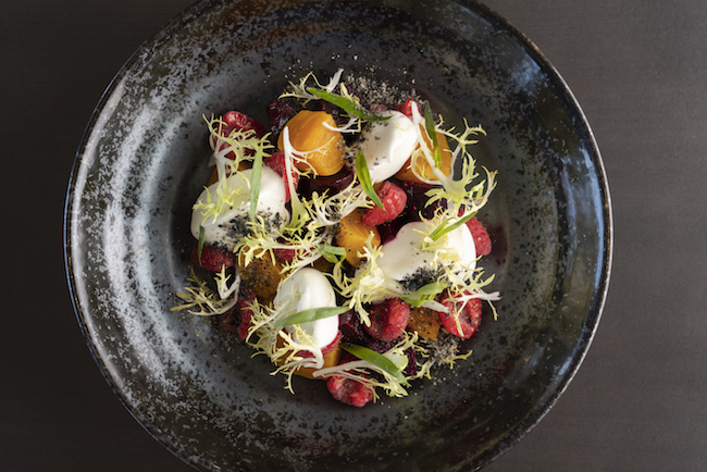 Marinated Beets & Goat Chese Cremeaux