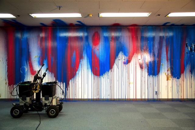 yang02 + 菅井創 SENSELESS DRAWING BOT #2 Performance @TRANS ARTS TOKYO 2012