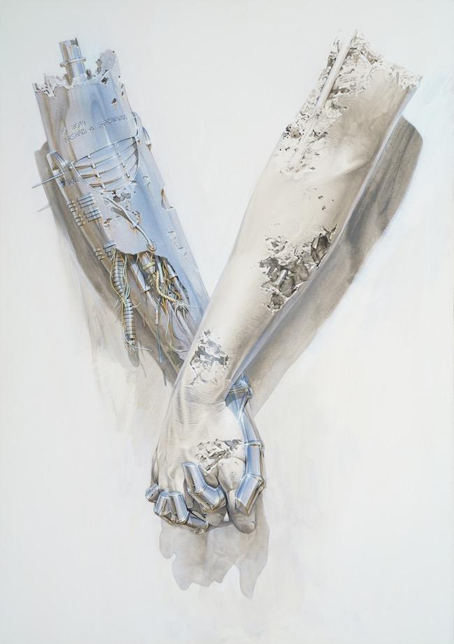 空山基『Untitled_holding hands (paint)』(2019年) ©Hajime Sorayama Courtesy of NANZUKA