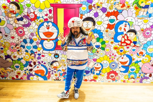Takashi Murakami at Uniqlo's store in New York City. Photo: Uniqlo  ©Takashi Murakami/Kaikai Kiki Co., Ltd. All Rights Reserved. ©Fujiko-Pro