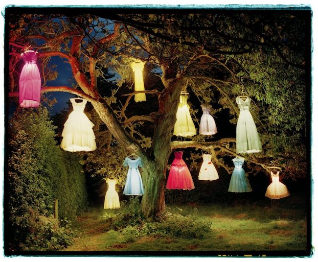 Tim Walker, The Dress/Lamp Tree, Eglingham Hall, Northumberland, 2002 © Tim Walker Studio