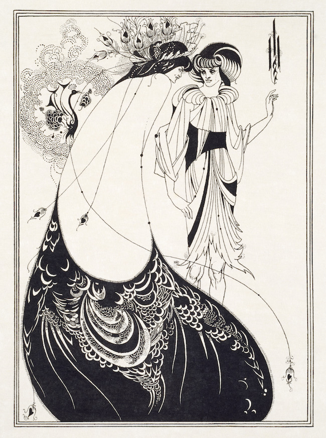Aubrey Beardsley (1872-1898), The Peacock Skirt, 1894, line block print on Japanese vellum paper © Victoria and Albert Museum, London