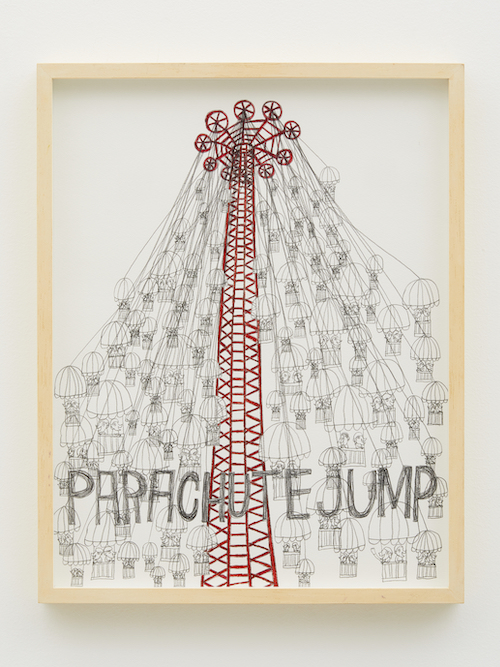 三宅信太郎 『PARACHUTE JUMP』(2019)Photo by Kenji Takahashi © Shintaro Miyake Courtesy of Tomio Koyama Gallery