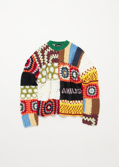 PATCHWORK PULLOVER KNIT ¥120000