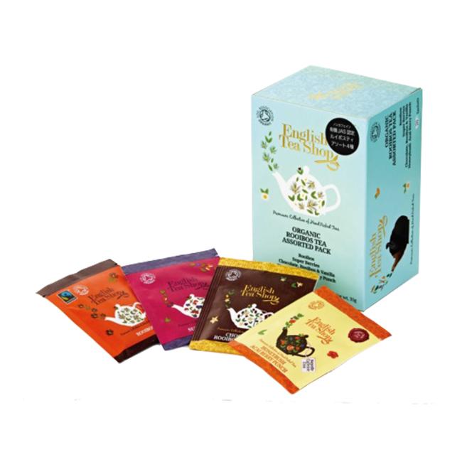 有機JAS認定ルイボスティー 4種アソートパック[20袋入り]¥900/English Tea Shop(シー コーポレーション)