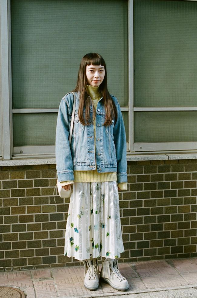 ブーツ WM×Danner ニット AKIRANAKA ジャケット Levi's スカート MSGM バッグ Gucci