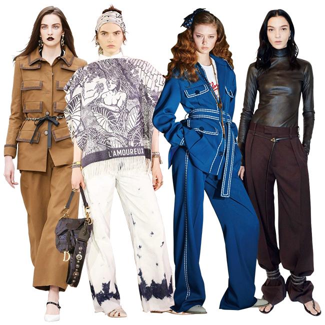 (左から)Chanel、Dior、Fendi、Bottega Veneta
