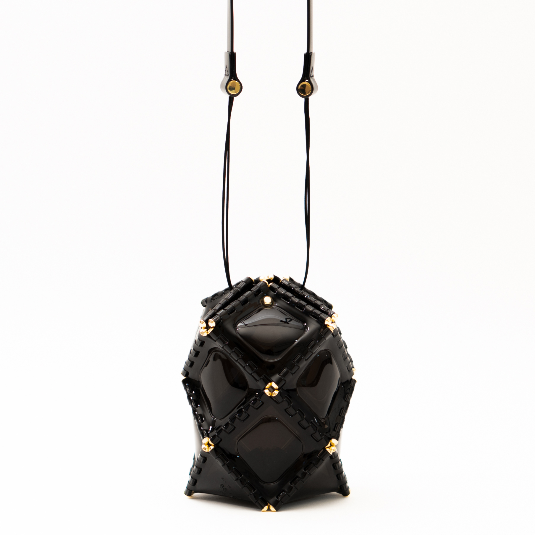 ASTERISK BLACK BLACK - GOLD Small(W12×H17×D12cm)¥35,000