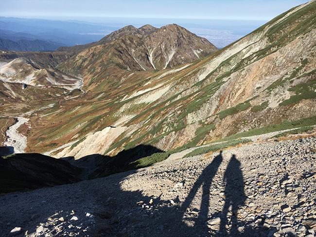 昨年9月に富山県の立山で縦走した時の様子。山小屋を利用した1泊2日。