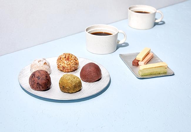 コーヒーとのペアリングコーナーには、おはぎ新世代の「タケノとおはぎ」「薄氷本舗 五郎丸屋」などが登場
