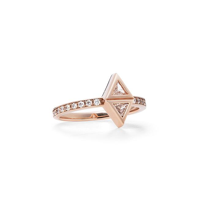 リング(ピンクゴールド/ホワイトダイヤモンド)¥214,500