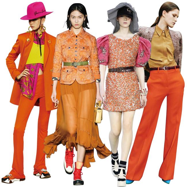 (左から)Versace、Chloé、Miu Miu、Victoria Beckham