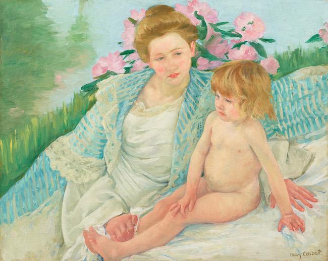 メアリー・カサット『日光浴(浴後)』(1901年)石橋財団アーティゾン美術館蔵