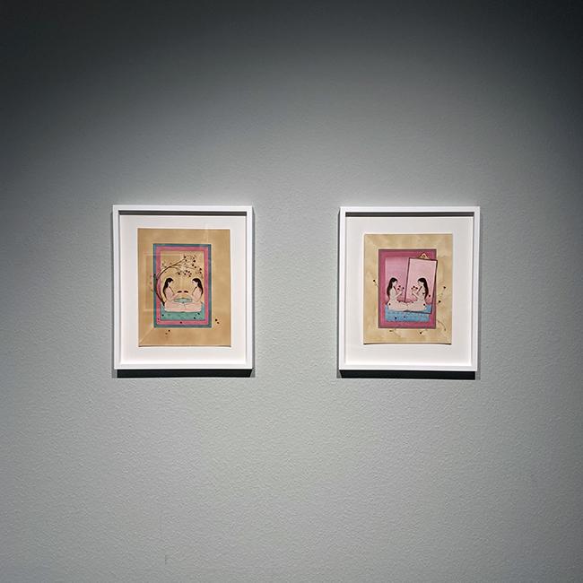 ヒバ・シュバッツ(左から)『Rose Garden』、『Self Reflection』(ともに2019年)