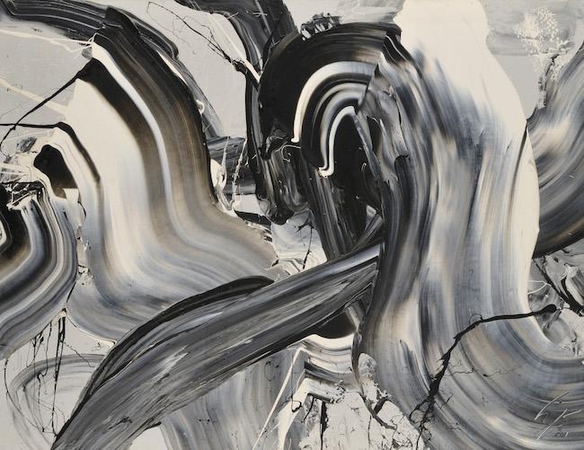 貫流 1973年 東京オペラシティ アートギャラリー蔵 撮影:早川宏一 油彩、キャンバス