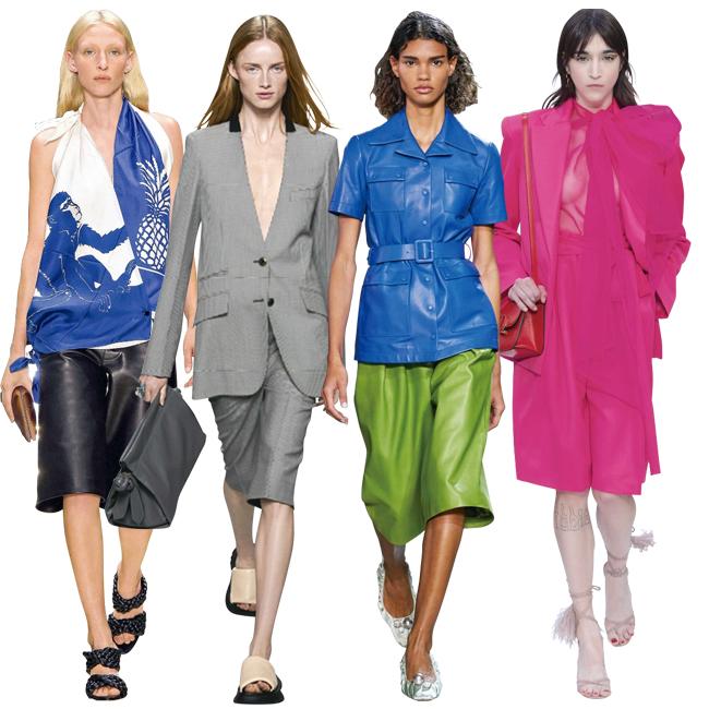 (左から)Bottega Veneta、Givenchy、Rochas、Valentino